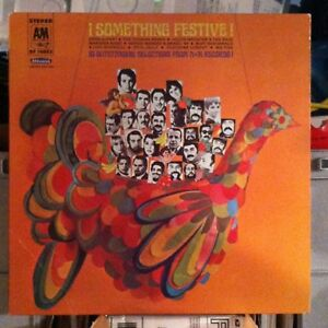 Something Festive -  A&M Christmas vinyl LP album - Herb Alpert - Liza Minnelli