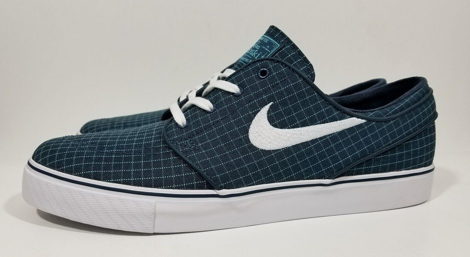Nike SB Zoom Stefan Janoski Canvas Premium Mens shoes bluee White Size 10