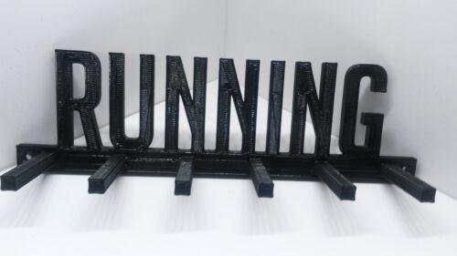 RUNNING MEDAL SPORTS DISPLAY HOLDER HANGER RACK ORGANIZER 26.2,13.1,10k,5k