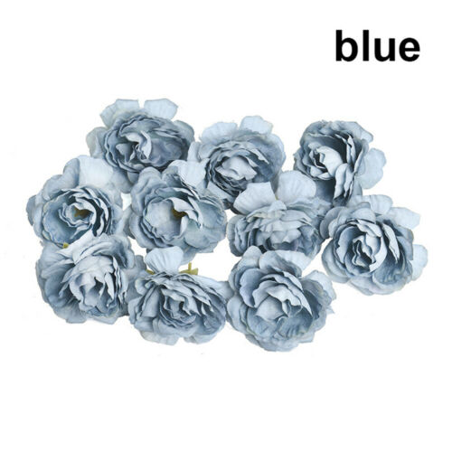 10Pcs Artificial Peony Flower Heads Floral Fake Bouquet Wedding Party Home New