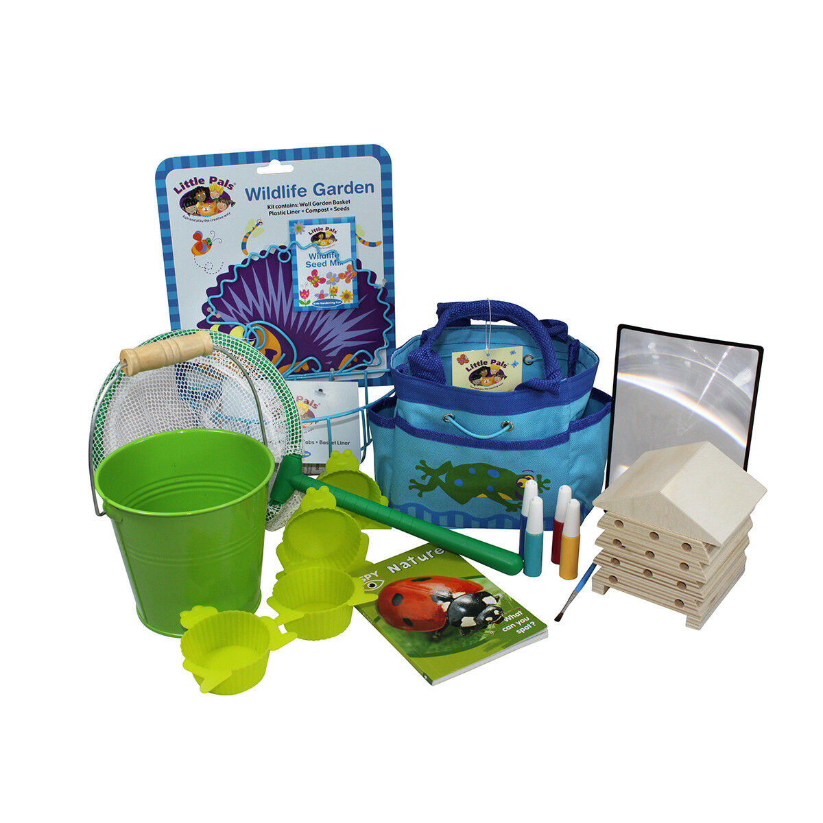 Little Pals Nature Watch Discovery Kit Spring with Pond Dipping Kit & Bee House