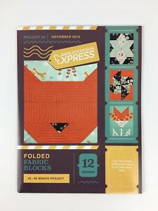 NEW-Anita-Goodesign-Express-Folded-Fabric-Blocks-Project-33-CD-amp-Booklet