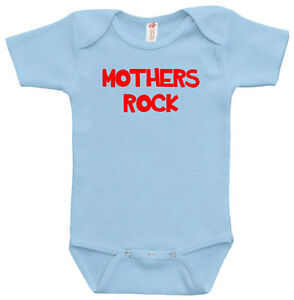 New mom mothers day gift Mother Rock one-piece baby body suit newborn Cute