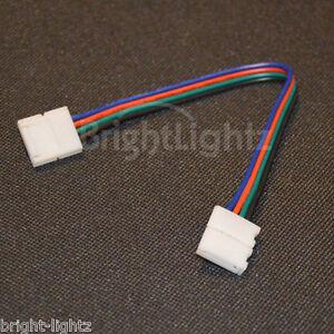 Rgb 5050 led strip light solderless connectors link wires tape image is loading rgb 5050 led strip light solderless connectors link aloadofball Image collections