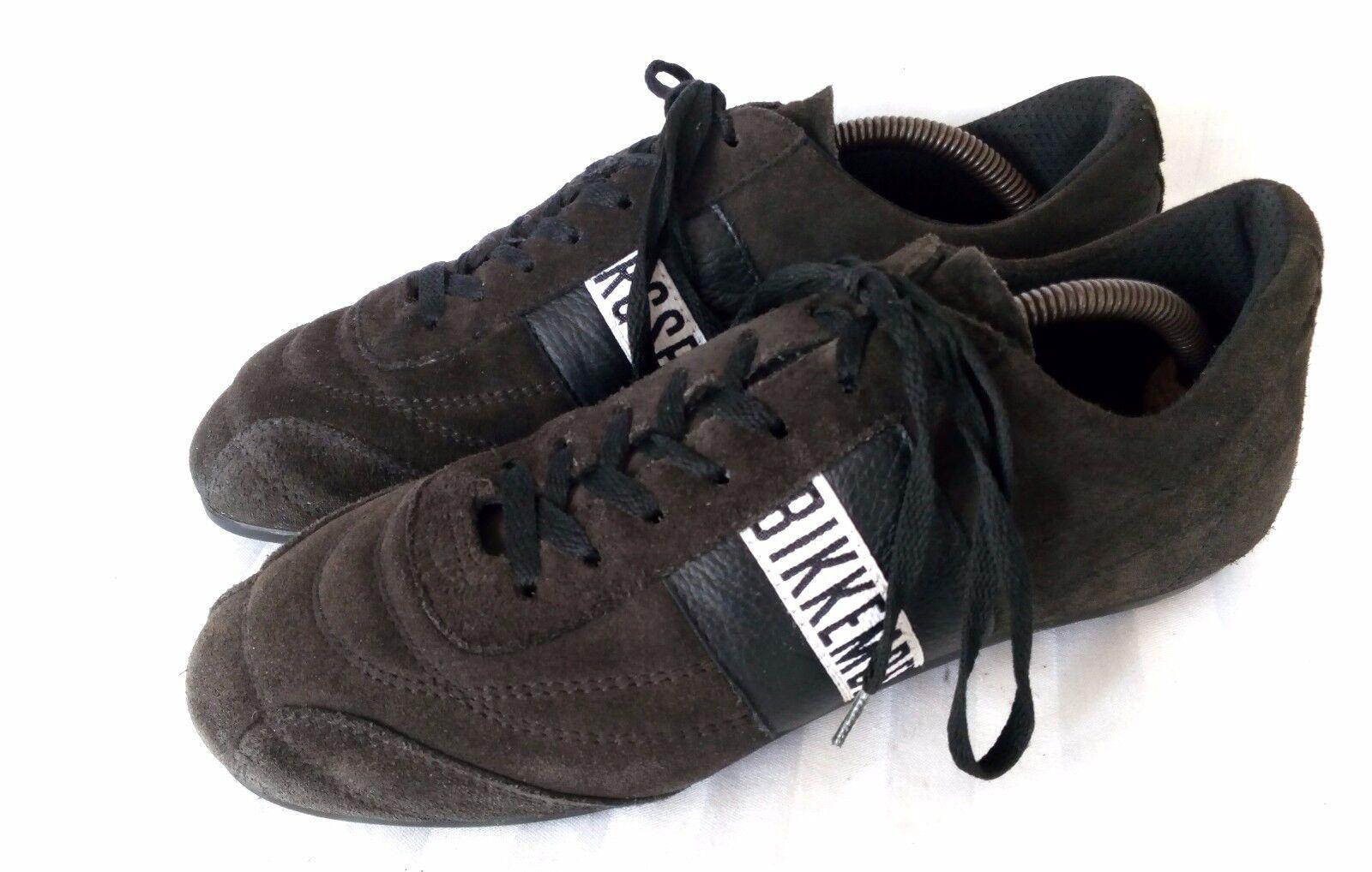 Bikkembergs UNISEX Halbschuhe Schnürschuhe Sneaker Braun Wildlleder Gr. 39 TOP