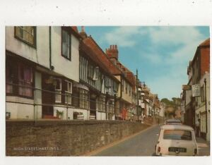 High-Street-Hastings-1975-Postcard-857a