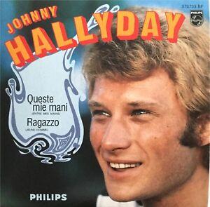 Meilleur-Prix-JOHNNY-HALLYDAY-en-italien-QUESTE-MIE-MANI-CD-SINGLE