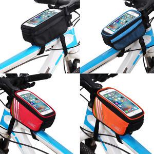 Bicycle-Cycling-Bike-Frame-Front-Tube-Waterproof-Smart-Phone-Bag-5-0-034-Portable