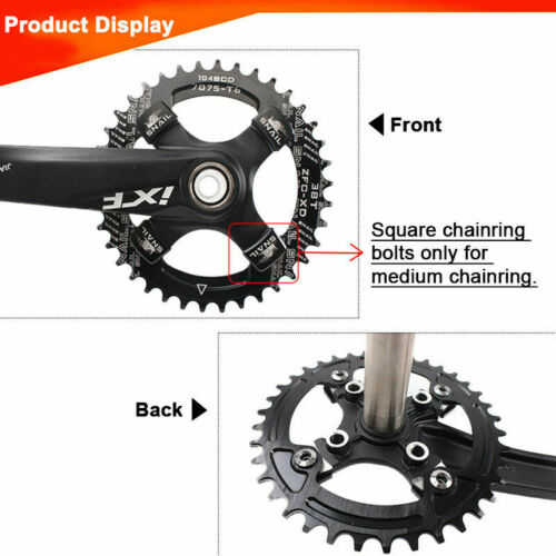 SNAIL MTB Bike Single Speed Square Chainring Bolts Chainwheel Crankset Screw US