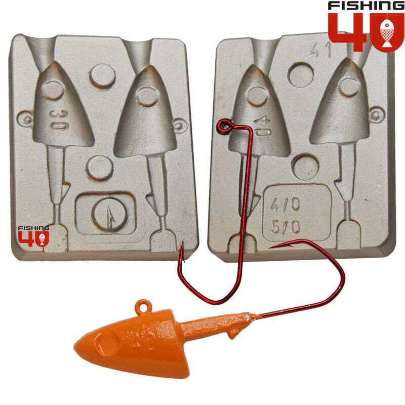 Fish Head Jig Mould 30-40g  Lure Lead Fishing Mould Brilliant for Cod, Conger