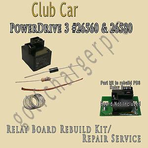 club car power drive 3 26560 26580 relay board assembly repair kit