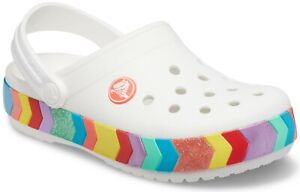 Crocs Kids Crocband Chevron con Perline Intasa Bianco