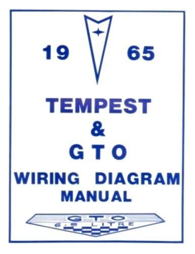 PONTIAC 1965 Tempest /& GTO Wiring Diagram 65