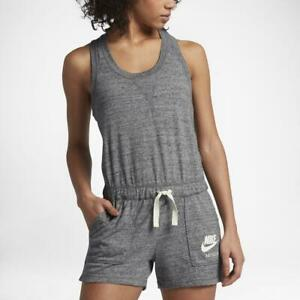 Nike-Women-039-s-Sportswear-Gym-Vintage-Romper-Heather-Gray-AA3873-091-NEW