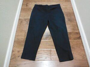 dfac4ba088c ELLEN TRACY BLUE STRETCH PANTS W SIDE ZIPPER ~ SIZE 14 X 26