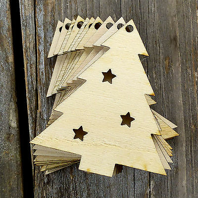 10x Wooden Christmas Nativity Star Craft Shapes 3mm Plywood Xmas Decoration