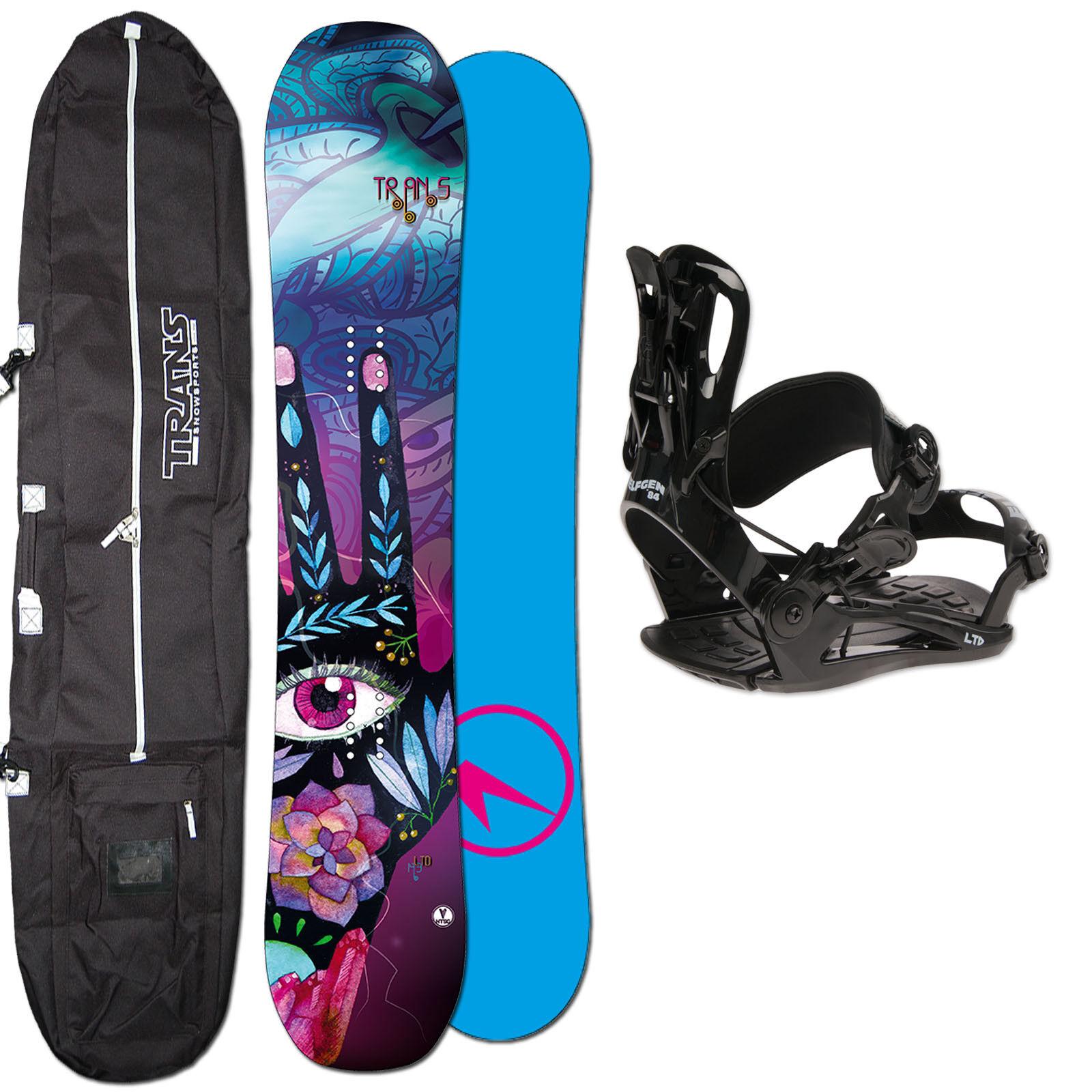 Mujer Roquero Snowboard Trans Ltd 147 cm + Fastec Fijación TALLA M + Bolsa