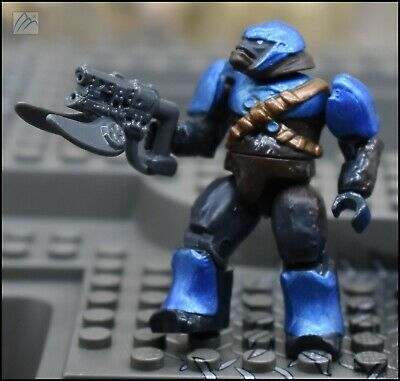 HALO MEGA BLOKS COBALT BLUE COVENANT W// BRUTE SHOT /& JUMP PACK MINI FIGURE