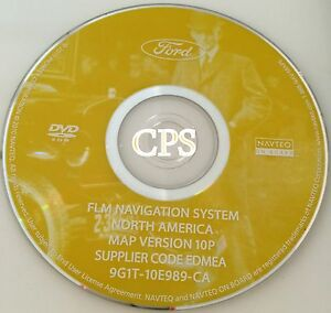 ford lincoln mercury gps navigation map update dvd version 10p 07