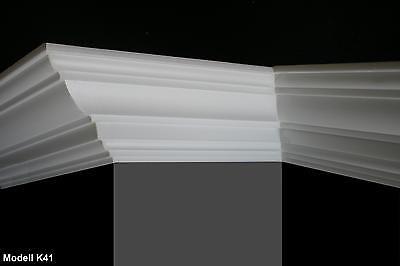 18 m+4 Ecken Zierleisten Styroporleisten Stuckprofile Zierprofile 60x60mm Z 22