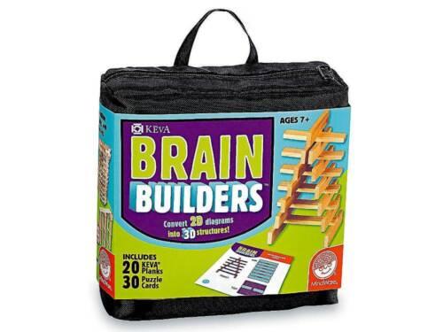 NEW KEVA Brain Builders MindWare 2D diagram to 3D Spatial Visualisation Puzzles