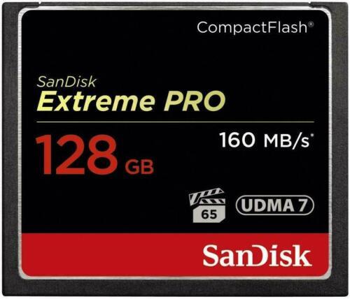 128GB Sandisk Extreme Pro 160MB//s UDMA7 CF Compactflash Memory Card