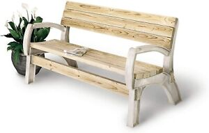 DIY Rustic Outdoor Wood Patio Chair Bench Seat Ends Garden Furniture For Summer
