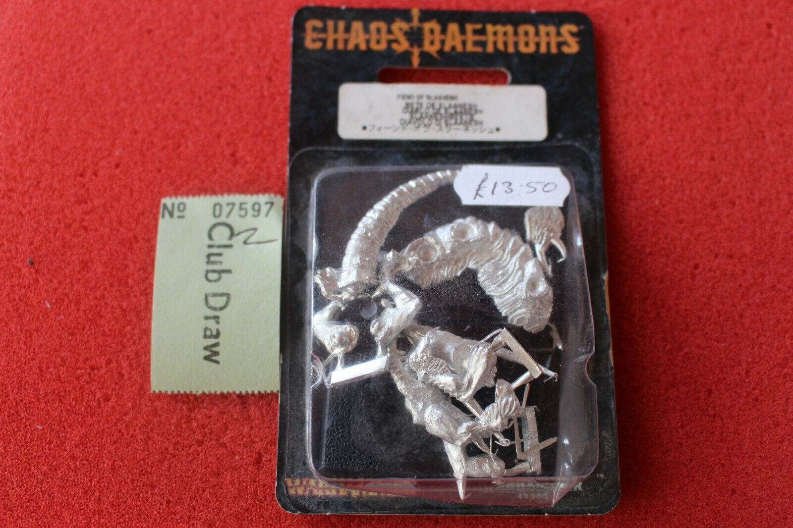 Games Workshop WARHAMMER CHAOS DEMONE di Slaanesh IN METALLO NUOVO COMPLETO GW DAEMON B