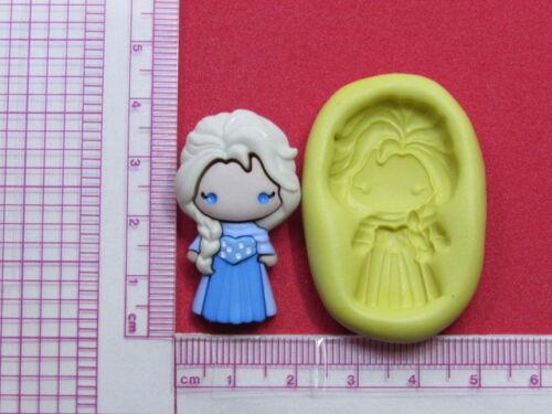 Princess Elsa Frozen Silicone Mold Cake Chocolate Resin Candy A956 Fondant Fimo