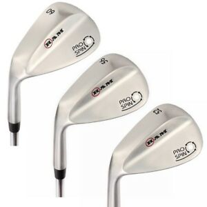 Ram-Golf-Pro-Spin-Stainless-Wedge-Set-52-56-60-Wedges-Mens-Left-Hand