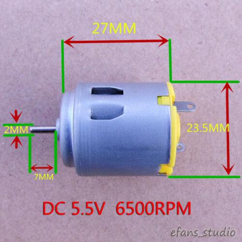 DC 3v-6v 5 V 6500 tr//min Haute Puissance Mini Rond R260 motor À faire soi-même RC Jouet Voiture Bateau Hobby