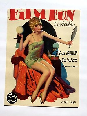 Girl With Rings Vintage  Magazine Covers-Reproduction-The Flapper Black Dress