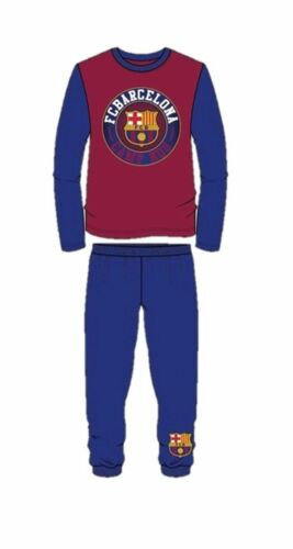 Boys Barcelona Football Pj Set Kids NIghtwear Pyjamas