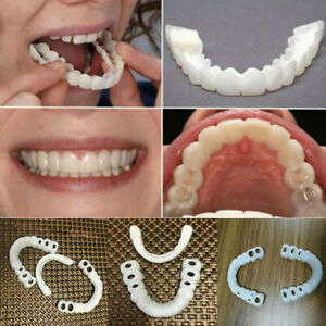 1Pair-Teeth-Veneers-Perfect-Smile-Cosmetic-Comfort-Covers-Upper-Bottom-WH