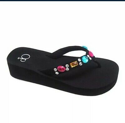 OP Youth Girls Beach Embellished Wedge Sandals Flip Flops  sizes 12–2//3