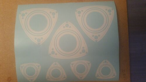 assortment 7 total RX8 Stickers // Decals Mazda Rotary RX7 multiple colors