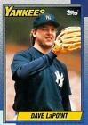 1990 Topps Dave Lapoint #186 Baseball Card