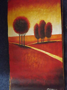 abstract-landscape-trees-forest-large-long-oil-painting-yellow-red-original-art