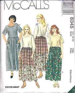 8345-Vintage-McCalls-Sewing-Pattern-Misses-Loose-Fitting-Pull-on-Dress-UNCUT-OOP