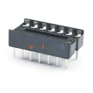 100pcs-14pin-dip-ic-buchse-adaptor-solder-type-socket-pitch-dual-wisch-kontakt