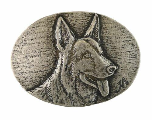 Gürtelschnalle Gürtelschließe Buckle Schäferhund Hund Haustier für Wechselgürtel