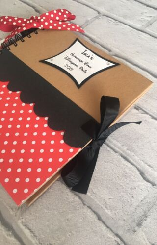 PERSONALISED DISNEY WORLD//LAND MINNIE MOUSE AUTOGRAPH//MEMORY BOOK