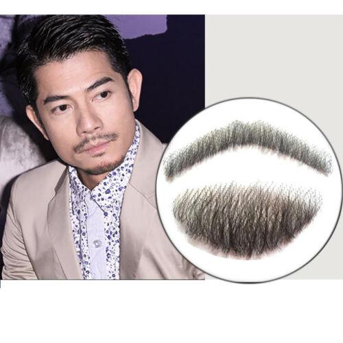 Fake Beard Men Mustache Handmade Makeup Hair Lifelike Human Hair Fancy Dress
