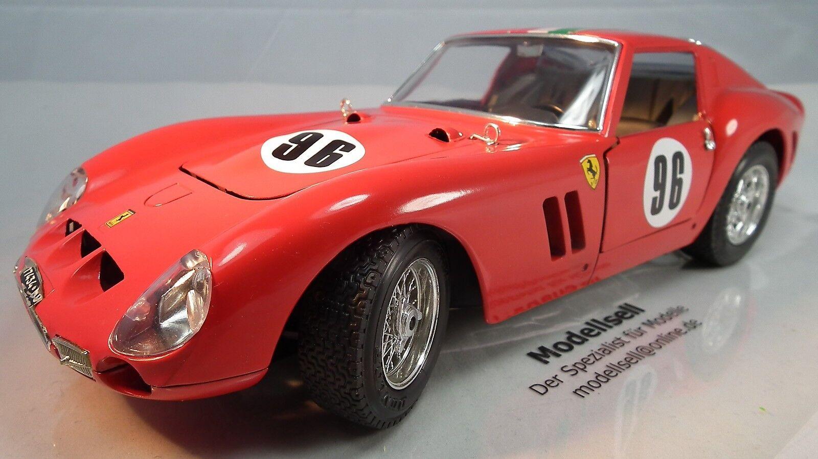 Ferrari GTO 1962 Racing No. 96 de BURAGO à l'échelle 1 18 Voiture Miniature Oldtimer