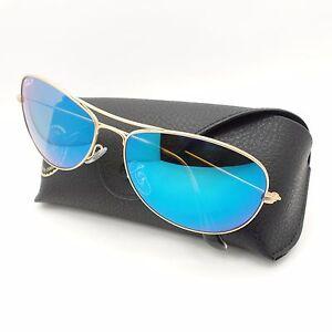 5e73bbc76ab Ray Ban 3562 112 A1 Matte Gold Blue Polarized Mirror 59 New ...