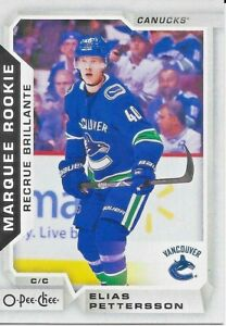 2018-19-O-Pee-Chee-Marquee-Rookie-611-Elias-Pettersson-RC
