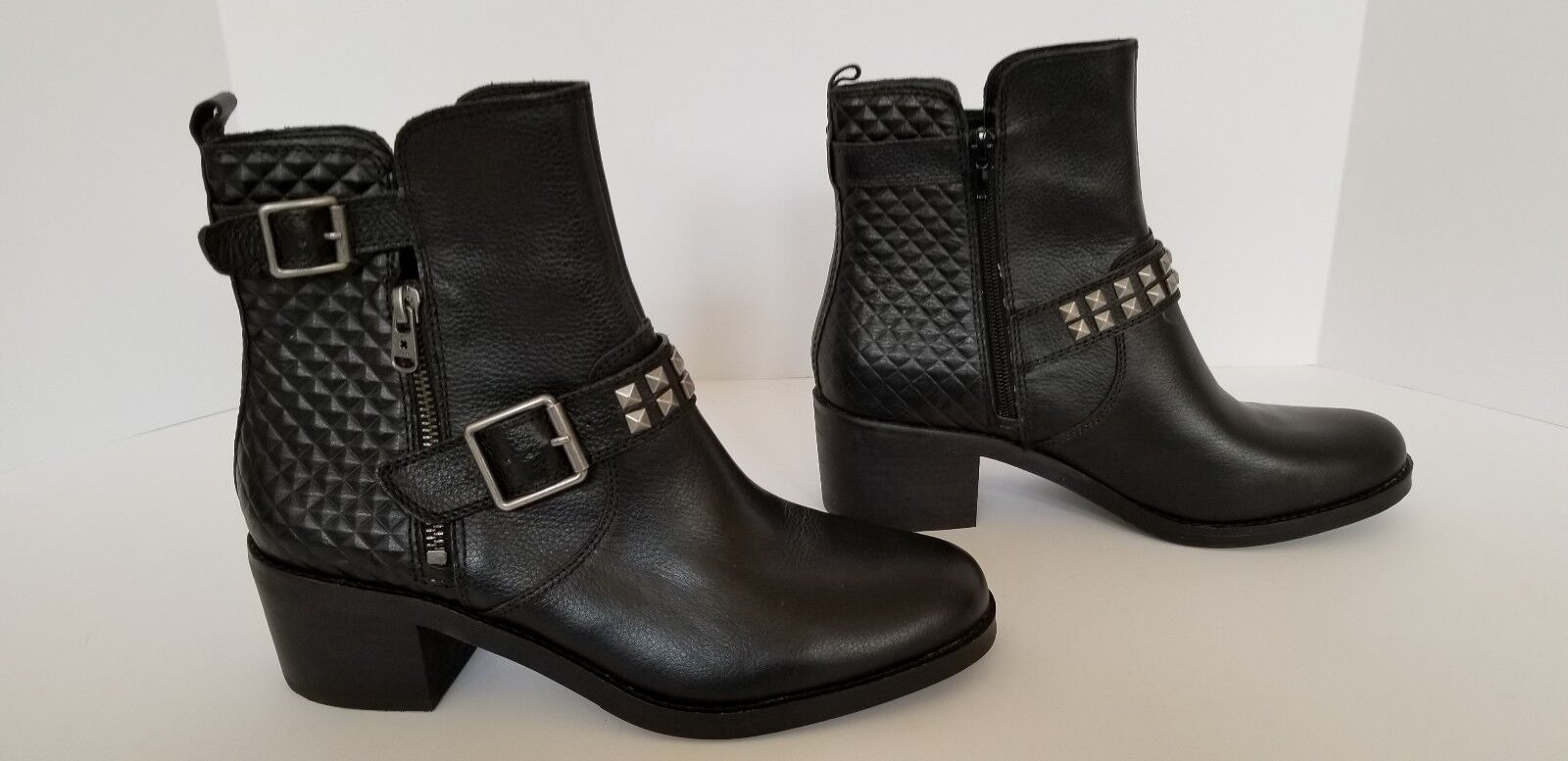 Lucky Brand donna's Dimensione 9.5M Cantini2 Pyramid Stud avvioies nero Leather New