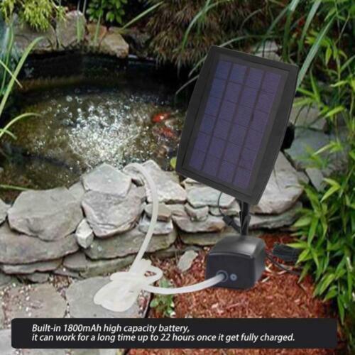 2 Air Pierre aérateur étang Eau Oxygénateur Solaire Pompe à Oxygène Aquarium