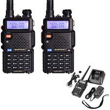 1 Pair Baofeng UV-5R Dual-Dand UHF/VHF 5W Two-way Ham Radio + Free Headset