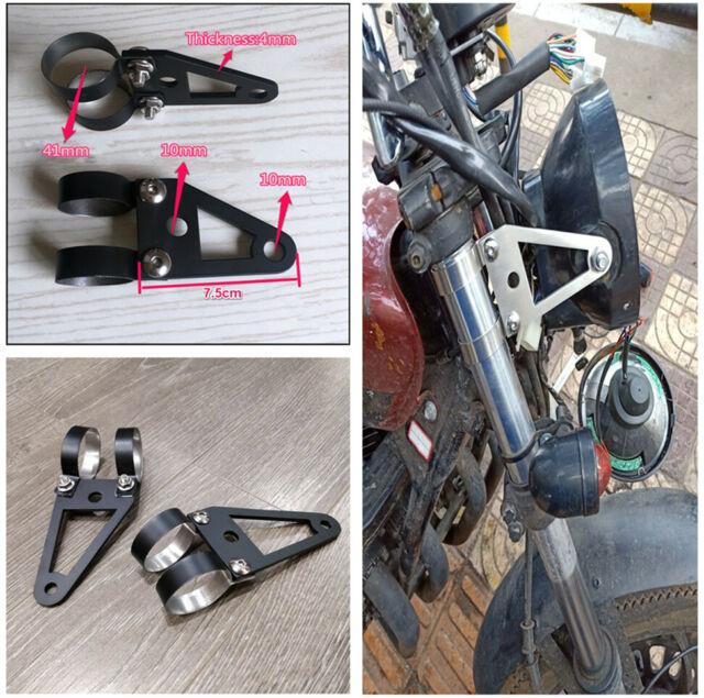 2pcs 41mm Fork Cafe Racers/&Custom Projects Motorcycle Headlight Bracket UK
